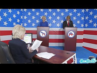 donald trump and hillary clinton fucking bernie sanders and megan kelly in presi