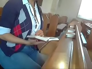 Indian Girl does in alone in the church
