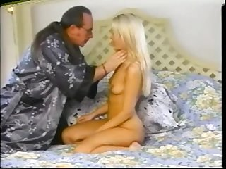 Blonde girl first time on camera
