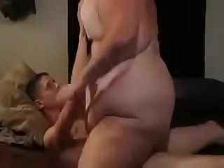 SSBBW amateur being inside to smother lucky guy