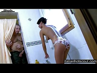 Justine gets her ass fucked in the bathroom