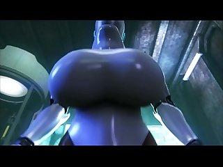 Big booty robot fucks