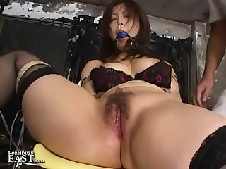 Asian Submissive Bound And Gagged On Chair For Kink Fetish Action