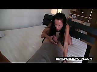 Stunning brunette estate agent rides till creampie realpublicporn com