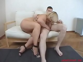 sexy mom lets loose and fucks her son with all her heart
