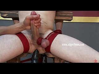 Gay toy boy bondage handjob