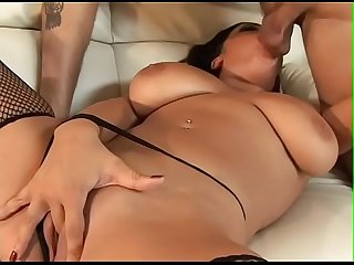 Horny white dude penetrates snatch of stunning chocolate babe Alexis Silver with big silicone-free..