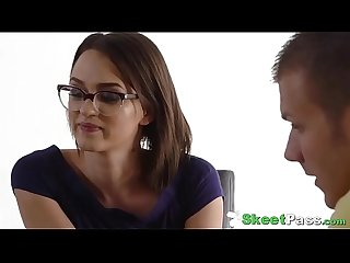 Stunning Petite Teen Student Alex More Butt-Fucked By Her Tutor