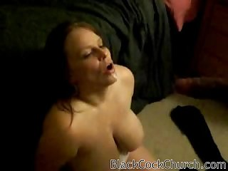 White wife is a black cock cum slut