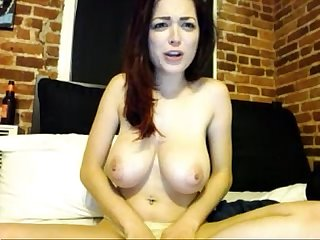 Youngcamgirl.com Teen with Huge Natural Tits plays on Webcam