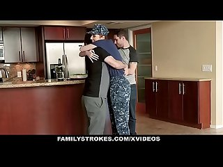 FamilyStrokes - Redhead Military Wife Gets Rammed by Stepson