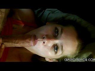 Gorgeous girlfriend sucking boyfriend S cock pov