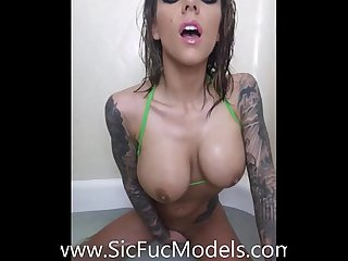 Bathtub Double Penetration with Young Karma Rx
