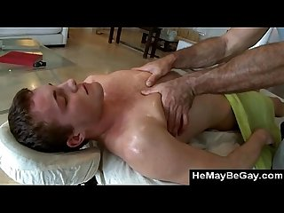 Hairy gay bear gets off rubbing straight guys butt