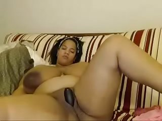 black latin milf with massive boobs fingering pussy