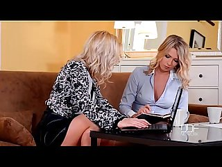 Two blonde euro lesbians finger and lick each other proper