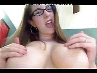 Hot Nerdy Brunette With Huge Natural Boobs