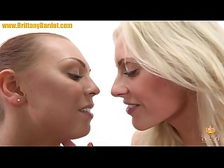 Brittany Bardot making out with Ornella Morgan before extreme anal training