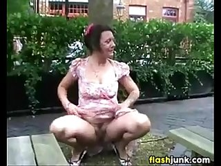 BERNADINE: British mature public flashing videos