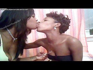 Brown sugar lesbian thot scene