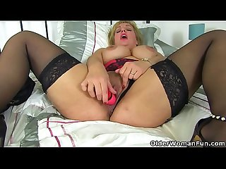 British milf danielle wears her sexy lingerie for a reason