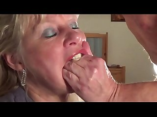 Mature gets throat fucked