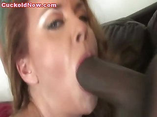 Cuckold hubby black cock loving wife