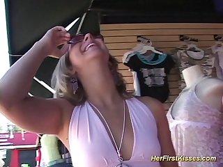 Her first Lesbian Sex