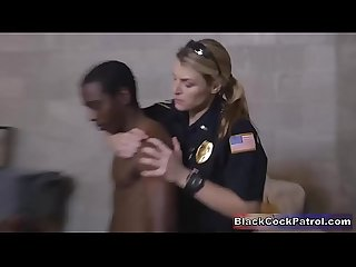 Black street pimp fucked by white female Cops as punishment