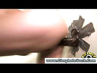 Watch gloryhole babe get a cumshot