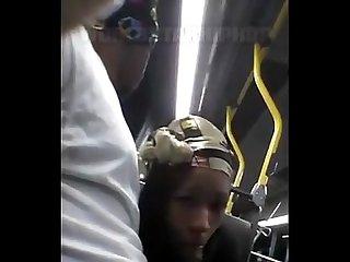 Giving a nigga sum neck on public bus must C