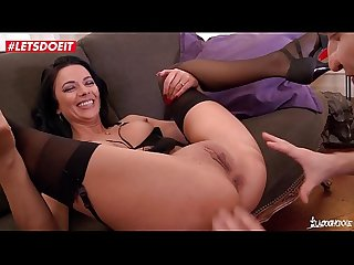 Stunning Romanian brunette gets hardcore fucking session from French guy (Shalina Devine)