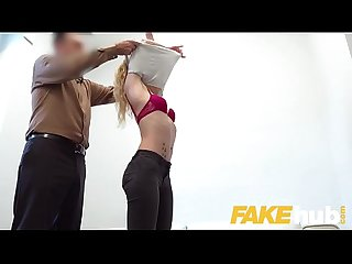 Fake Agent Sexy blonde French model in perfect casting blowjob and fuck