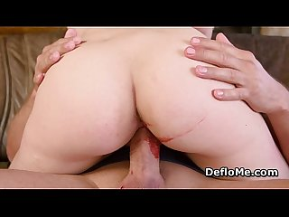 Nympho gives handjob and rides cock for the first time