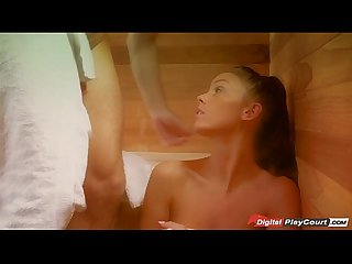 Whitney westgate gets her pussy wet eaten N fucked in sauna