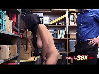 Arab babe is caught sholifting and drilled hard by horny officer