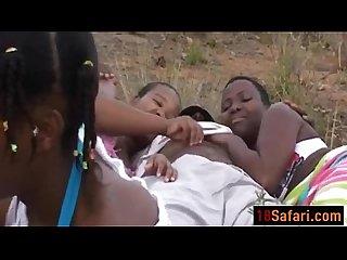 African sluts outdoor blowjob group interracial