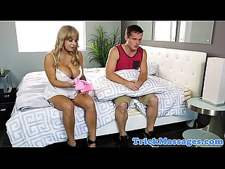 Bigtitted massage Alyssa Lynn cocksucking
