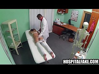 Brunette babe sucks on her doctors rock hard craving the doctors cock cure 720 3